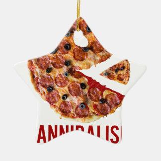 Cannibalism Pizza Eat Funny Food Christmas Ornament