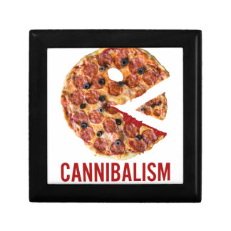 Cannibalism Pizza Eat Funny Food Gift Box