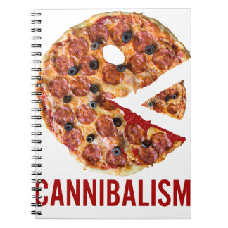Cannibalism Pizza Eat Funny Food Notebooks