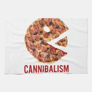 Cannibalism Pizza Eat Funny Food Tea Towel