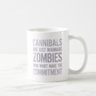 Cannibals Wannabe Zombies Basic White Mug