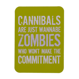 Cannibals Wannabe Zombies Rectangular Photo Magnet