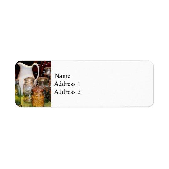 Canning Jar With Corn Return Address Label
