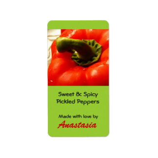 Canning Label Pickled Peppers from the Garden Address Label