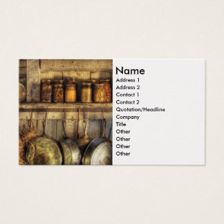Canning - Old country kitchen Business Card