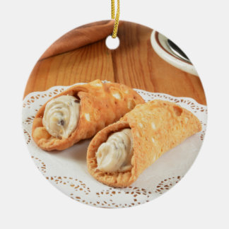 Cannoli Christmas Ornament