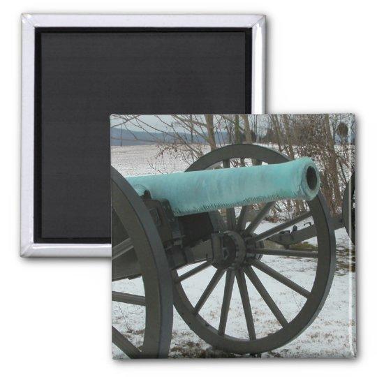 Cannon at Antietam Square Magnet