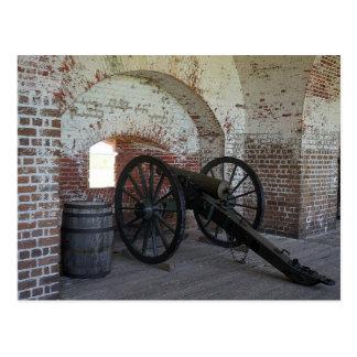 Cannon at Fort Pulaski Postcard
