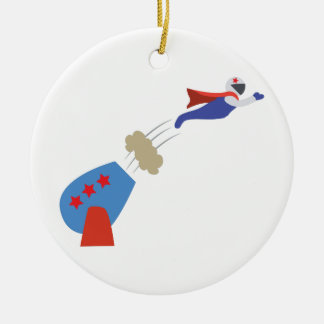 Cannon Ball Man Christmas Ornament