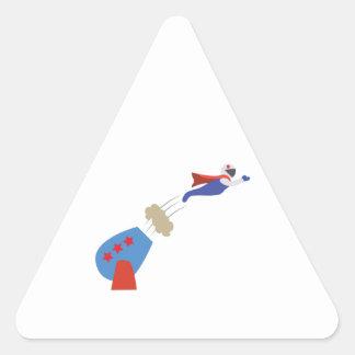 Cannon Ball Man Triangle Sticker