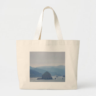 Cannon Beach Haystack in the mist Jumbo Tote Bag
