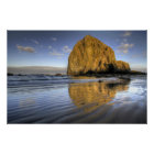 Cannon Beach Low Tide Oregon Pacific Ocean Poster