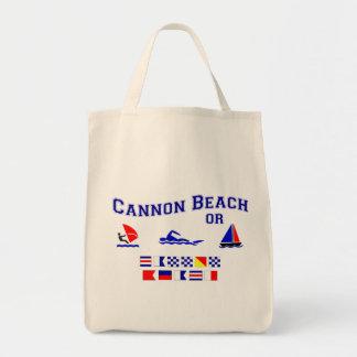 Cannon Beach OR Signal Flags Canvas Bags