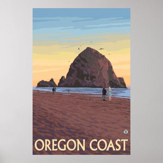Cannon Beach, Oregon - Haystack Rock Poster