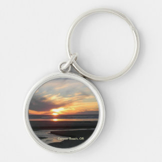 Cannon Beach, Oregon Sunset Key Ring