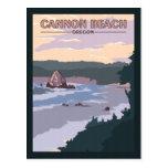 Cannon Beach Oregon - Vintage Travel Postcard
