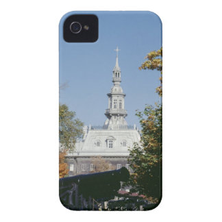 Cannon by historical building, Quebec, Canada iPhone 4 Cases