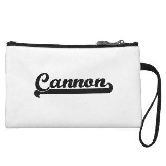 Cannon Classic Retro Name Design Wristlet Purse