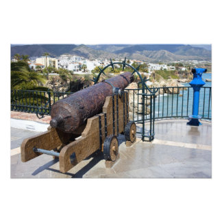 Cannon on Balcon de Europa in Nerja Photograph