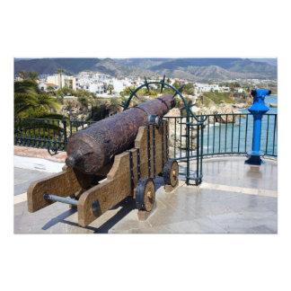 Cannon on Balcon de Europa in Nerja Photograph