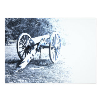 cannon on the Gettysburg Battlefield 13 Cm X 18 Cm Invitation Card