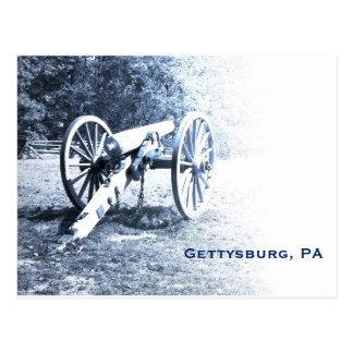 cannon on the Gettysburg Battlefield Postcard