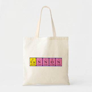 Cannon periodic table name tote bag