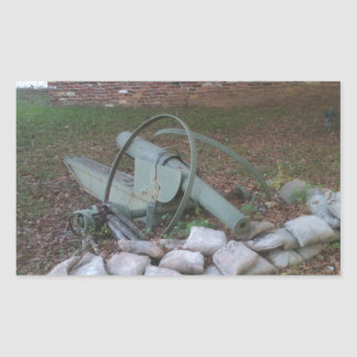 Cannon wreck; peace symbol rectangular sticker