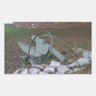 Cannon wreck; peace symbol rectangular sticker