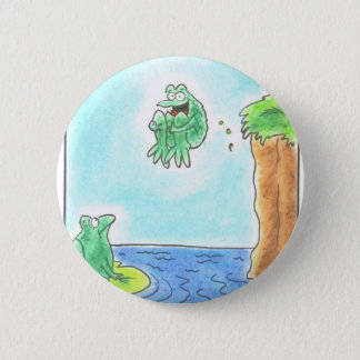 Cannonball Frog 6 Cm Round Badge