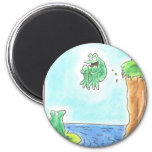 Cannonball Frog 6 Cm Round Magnet