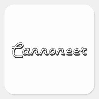 Cannoneer Classic Job Design Square Sticker