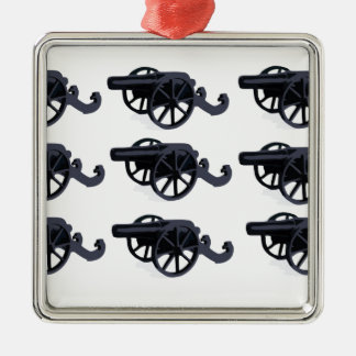 cannons in rows baby Silver-Colored square decoration