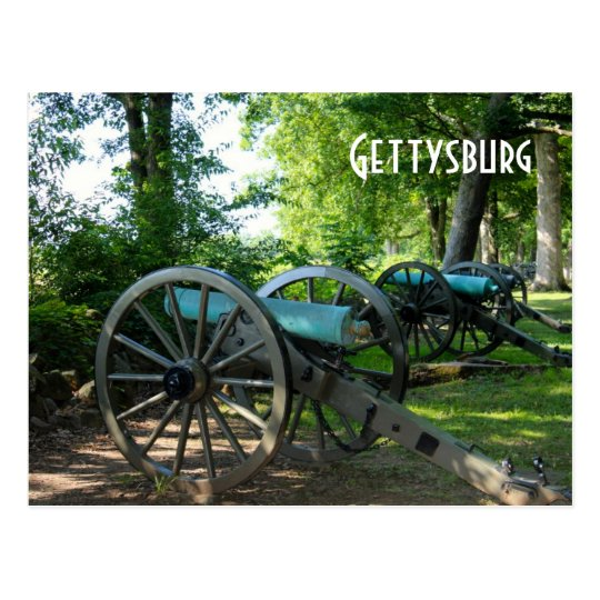 Cannons of Gettysburg National Military Park Postcard
