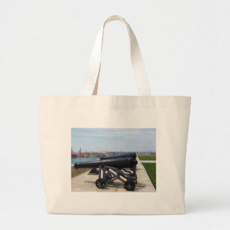 Cannons On Malta Canvas Bags