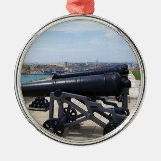 Cannons On Malta Christmas Ornament