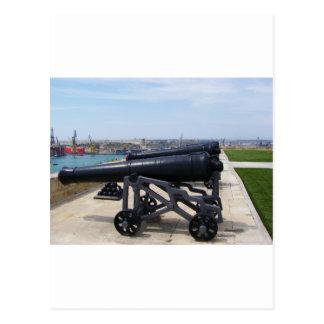 Cannons On Malta Postcard