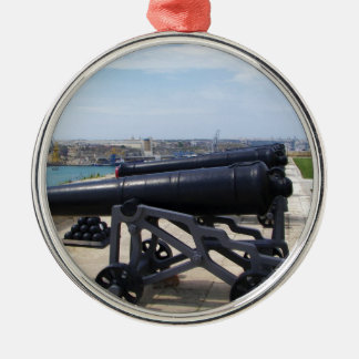 Cannons On Malta Silver-Colored Round Decoration