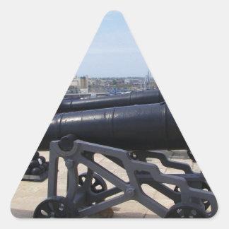 Cannons On Malta Triangle Sticker
