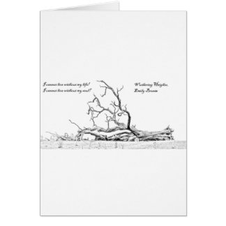 Cannot Live Without My Soul Wuthering Heights Greeting Card