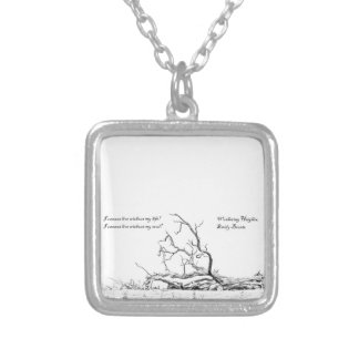 Cannot Live Without My Soul Wuthering Heights Square Pendant Necklace
