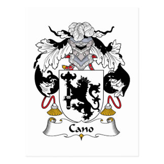Cano Family Crest Post Card