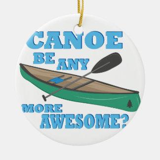 Canoe Awesome Round Ceramic Decoration
