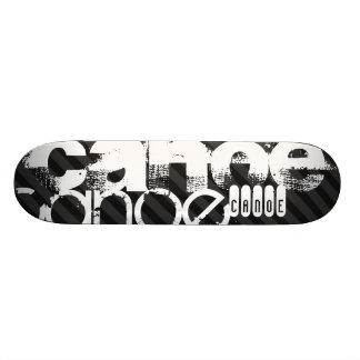 Canoe; Black & Dark Gray Stripes 18.1 Cm Old School Skateboard Deck