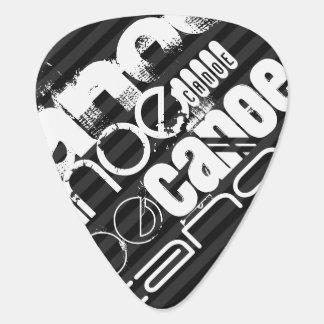 Canoe; Black & Dark Gray Stripes Guitar Pick