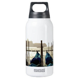 CANOE BOAT Hanger : Ocean going vessel in backgrou 10 Oz Insulated SIGG Thermos Water Bottle