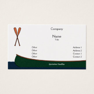 Canoe Business Cards