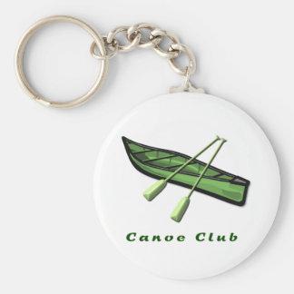 Canoe Club Design Basic Round Button Key Ring