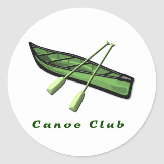 Canoe Club Design Classic Round Sticker