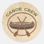 Canoe Crew Round Sticker